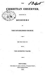 The Christian Observer: Volume 16