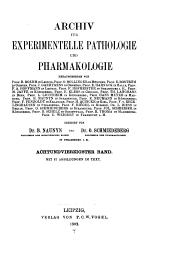 Archiv für experimentelle Pathologie und Pharmakologie: Band 48