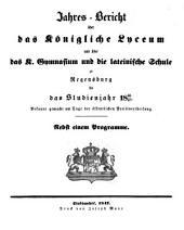 Jahres-Bericht: 1846/47