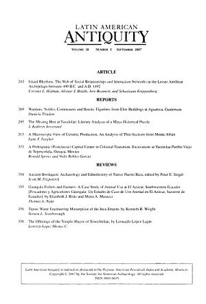 Latin American Antiquity PDF