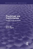 Psychology and Psychotherapy  Psychology Revivals  PDF