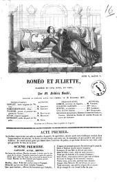 Romeo et Juliette tragedie en cinq actes, en vers par M. Frederic Soulie