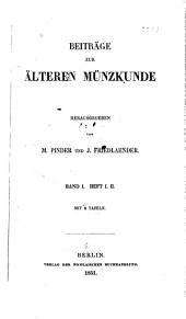 Beiträge zur älteren münzkunde: Band 1