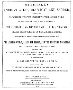 An Ancient Geography  Classical and Sacred  Mitchell s Ancient Atlas