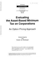 Evaluating the Asset-based Minimum Tax on Corporations: An Option-pricing Approach