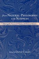 From Natural Philosophy to the Sciences PDF