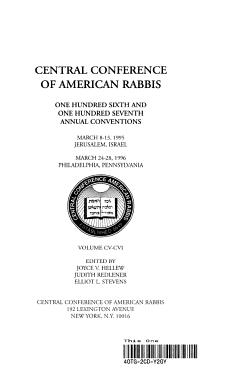 Ccar Yearbook 1995 PDF