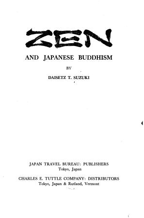 Zen and Japanese Buddhism PDF