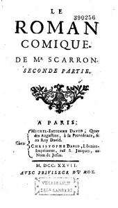 Le roman comique. De Mr Scarron. Seconde partie