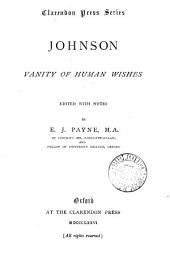 Johnson. Vanity of human wishes, ed. with notes by E.J. Payne