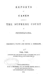 Reports of cases adjudged in the Supreme court of Pennsylvania: Volume 44