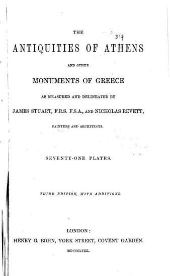 The Antiquities of Athens PDF