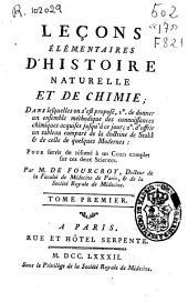 Leçons élémentaires d'histoire naturelle et de chimie ...