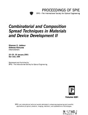 Combinatorial and Composition Spread Techniques in Materials and Device Development PDF