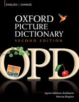Oxford Picture Dictionary English Chinese Edition  Bilingual Dictionary for Chinese speaking teenage and adult students of English PDF