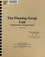 The Flaming Gorge Unit  Colorado River Storage Project PDF