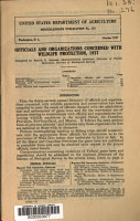 Officials and Organizations Concerned with Wildlife Protection  1937 PDF