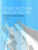 Construction and Detailing for Interior Design PDF