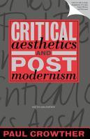 Critical Aesthetics and Postmodernism PDF