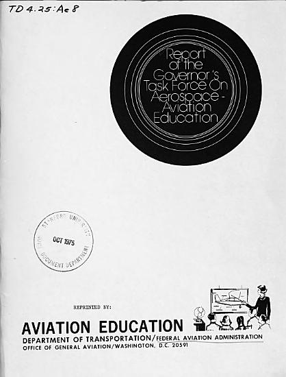 Report of the Governors Task Force on Aerospace Aviation Education PDF