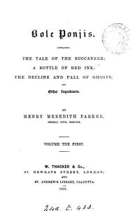 Bole Ponjis  Containing the Tale of the Buccaneer  A Bottle of Red Ink  The Decline and Fall of Ghosts  and Other Ingredients PDF