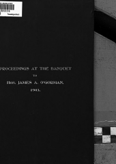 Proceedings at the Banquet to James A. O'Gorman