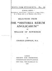 "Selections from the ""Historia Rerum Anglicarum"""