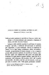 Della presente epidemia di morbillo in Venezia e delle medicine e de' provvedimenti più valevoli a limitarne il danno del dott. Giacinto Namias
