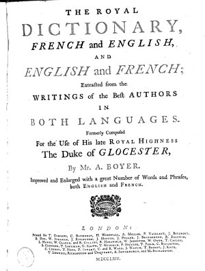 The Royal Dictionary  French and English  and English and French PDF