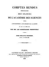 Comptes rendus hebdomadaires des séances de l'Académie des sciences: Volume63