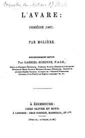 L'Avare. Comédie ... soigneusement revue par G. Surenne