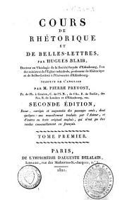 Cours de rhétorique et de belles-lettres: Volume1