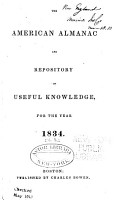The American Almanac and Repository of Useful Knowledge for the year 1834 PDF