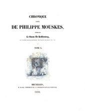 Chronique rimée de Philippe Mouskes: Volume1