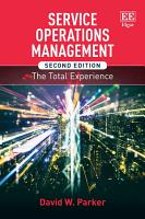 Service Operations Management  Second Edition PDF