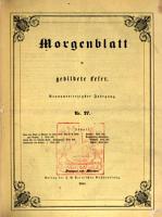 Morgenblatt f  r gebildete leser PDF