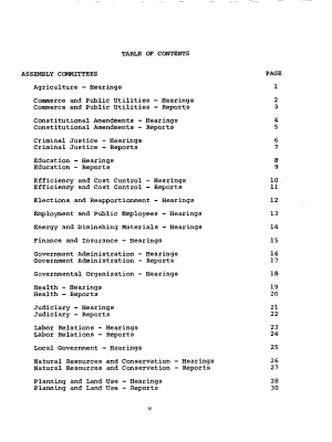 Hearings and Reports of Committees of the Legislature PDF
