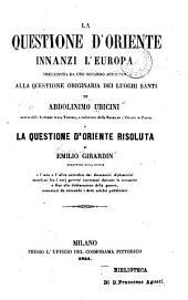La questione d'Oriente innanzi l'Europa ...