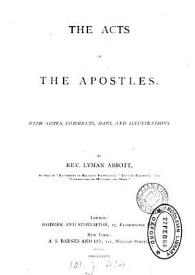 The Acts of the Apostles  with notes by L  Abbott PDF
