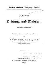 Goethe's Dietung und warheit: (the first four books)