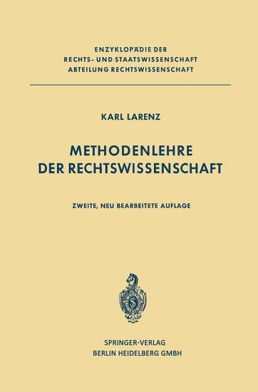 Methodenlehre der Rechtswissenschaft PDF