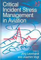 Critical Incident Stress Management in Aviation PDF