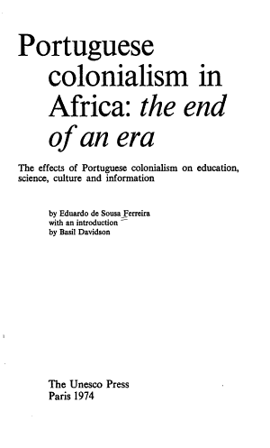 Portuguese Colonialism in Africa