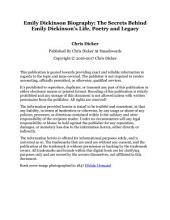 Emily Dickinson Biography: The Secrets Behind Emily Dickinson's Life, Poetry and Legacy