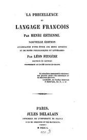 La precellence du langage francois
