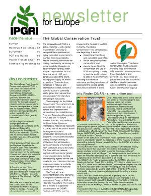 IPGRI  Newsletter for Europe PDF