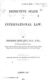 Defective State of International Law