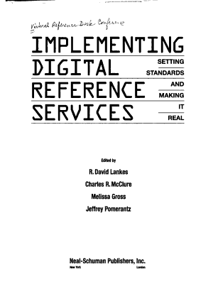 Implementing Digital Reference Services PDF