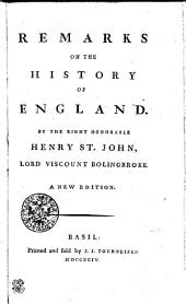 Remarks on the History of England
