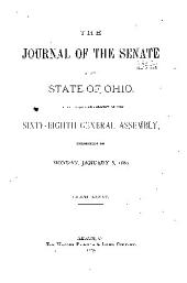 Journal of the Senate of the ... General Assembly of the State of Ohio ...: Volume 85